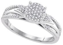 0.15CT Diamond Micro-Pave 10KT Ring White Gold - REF-18F2V
