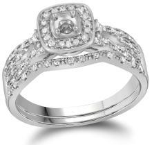 0.35CT Diamond Semi-Mount 14KT Ring White Gold - REF-71R9K