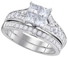 1.50CT Diamond Invisible 14KT Ring White Gold - REF-194T9N