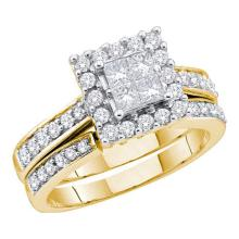 1.50CT Diamond Invisible 14KT Ring Yellow Gold - REF-194Y9Z