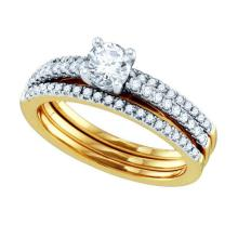 0.75CT Diamond Bridal 14KT Ring Yellow Gold - REF-142F4V