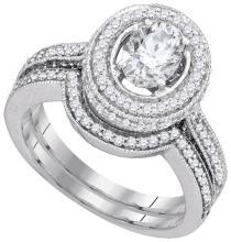 1.75CT Diamond Bridal 14KT Ring White Gold - REF-554M9W