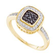0.25CT Diamond Anniversary 14KT Ring Yellow Gold - REF-37X5T