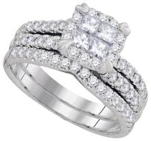 1.25CT Diamond Invisible 14KT Ring White Gold - REF-142M4W