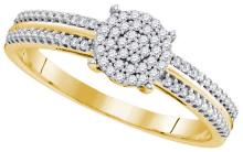 0.02CT Diamond Micro-Pave 10KT Ring Yellow Gold - REF-18A2X