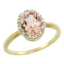 Natural 1.22 ctw Morganite & Diamond Engagement Ring 14K Yellow Gold - SC#CY413101 - REF#27M4P