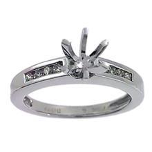 Platinum 0.21CTW Diamond Semi Mount Ring - REF-105X5Y