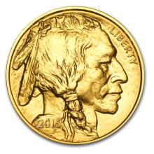 One pc. 2015 1 oz .9999 Fine Gold Buffalo Brilliant Uncirculated