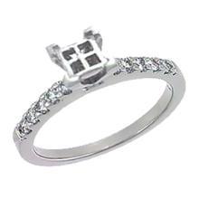 Platinum 0.34CTW Diamond Semi Mount Ring - REF-102Z7T