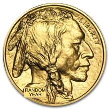 One pc. 1 oz .9999 Fine Gold Buffalo Random Year