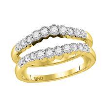 0.50 CTW Diamond Wrap Ring 14KT Yellow Gold - REF-64M4H