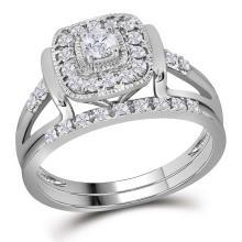 0.33 CTW Diamond Bridal Wedding Engagement Ring 10KT White Gold - REF-57K2W