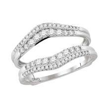 0.49 CTW Diamond Ring 14KT White Gold - REF-67X4Y