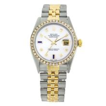 Rolex Pre-owned 36mm Mens White MOP Two Tone - REF-610W3Y