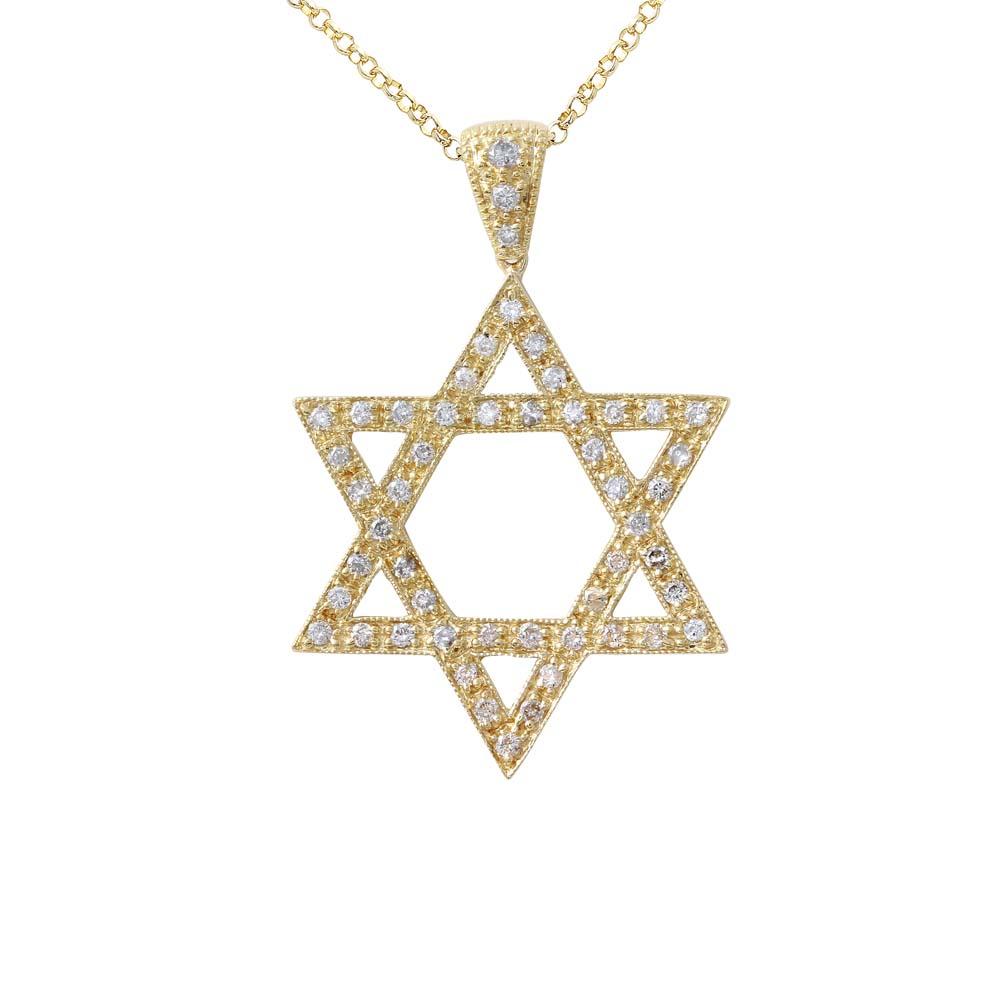 0.47 CTW Diamond Necklace 14K Yellow Gold - REF-42F5N