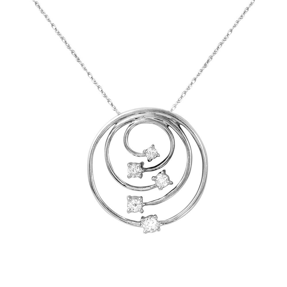 0.33 CTW Diamond Necklace 14K White Gold - REF-53R5K