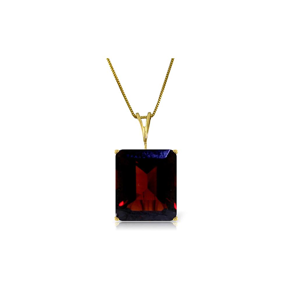 Genuine 7 ctw Garnet Necklace Jewelry 14KT Yellow Gold - REF-38F2Z