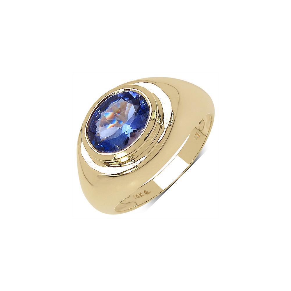 1.80 CTW Tanzanite Ring 10K Yellow Gold - REF-79U2X