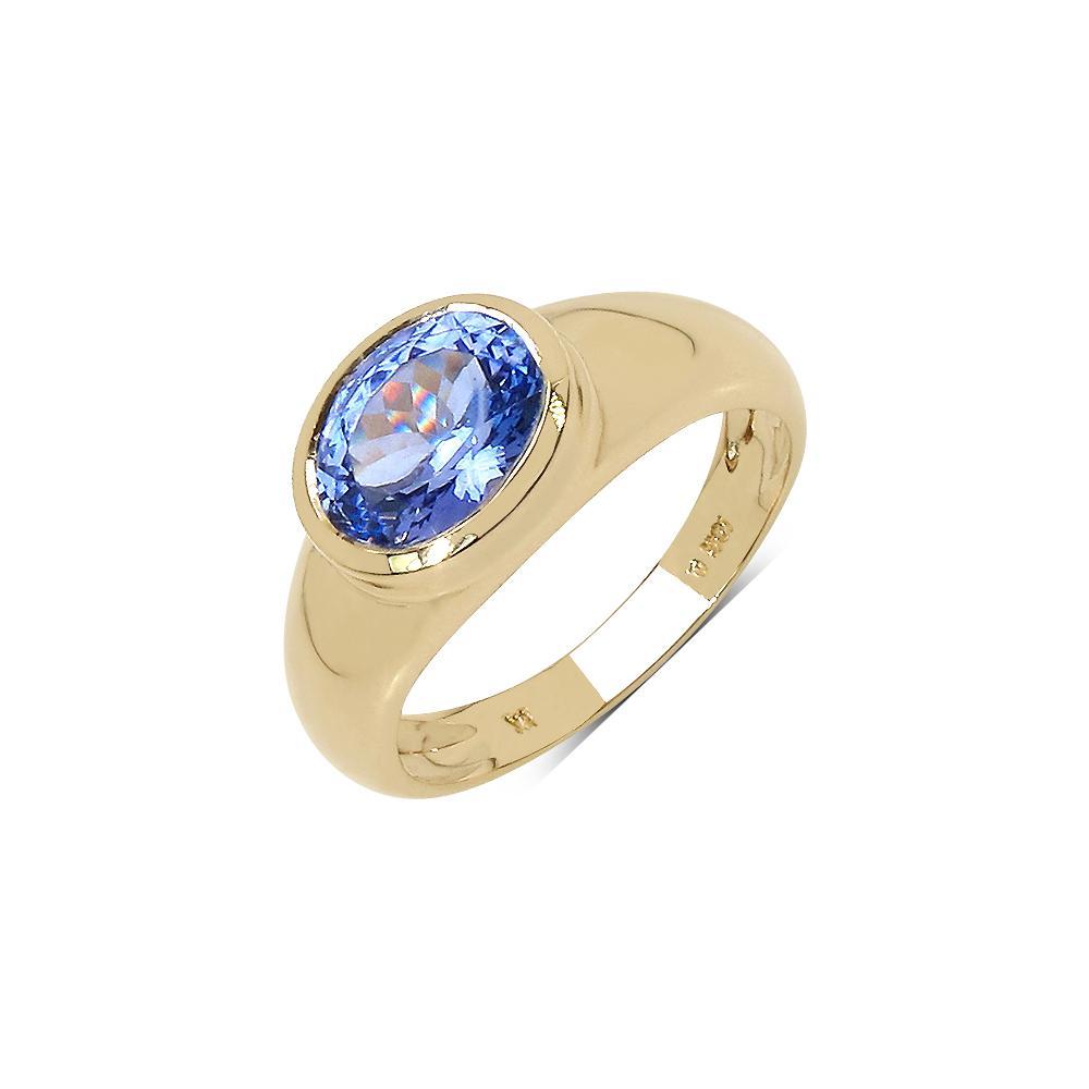 1.80 CTW Tanzanite Ring 10K Yellow Gold - REF-73A6V