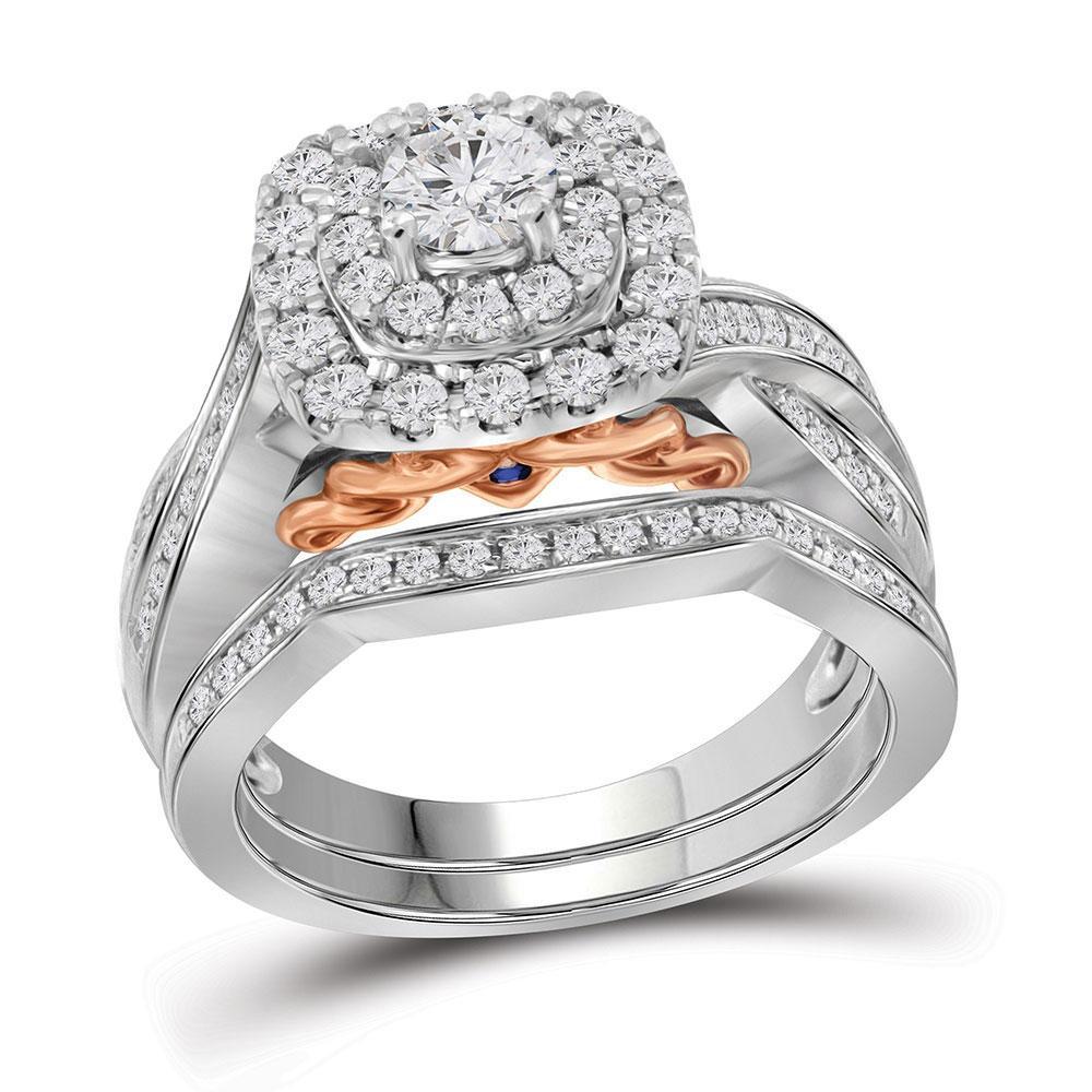 1.01 CTW Diamond Bellissimo Bridal Ring 14k White Gold - REF-161N2F