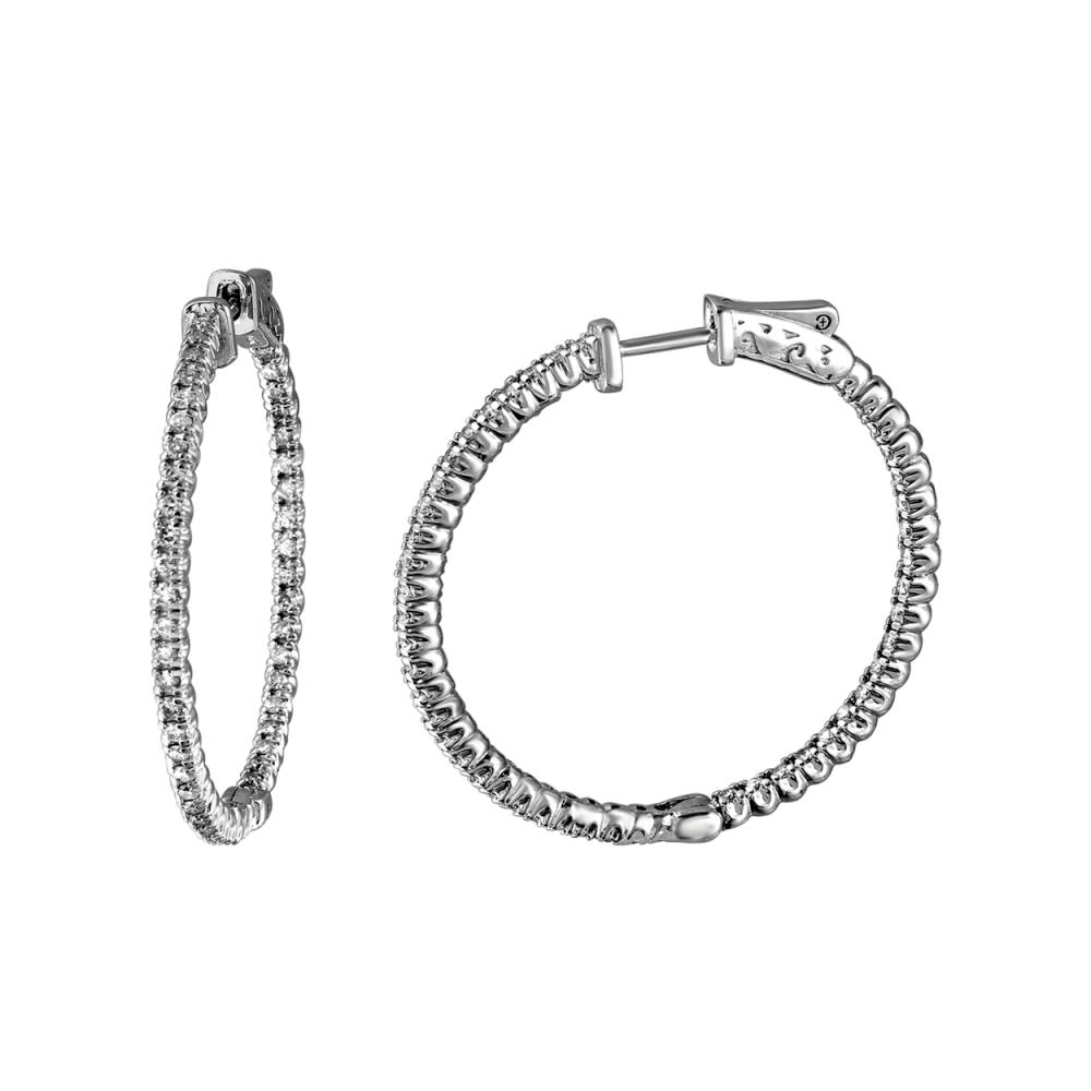1.54 CTW Diamond Earrings 14K White Gold - REF-153W3H