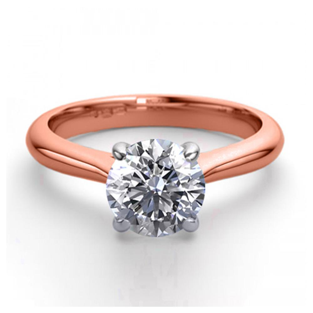 14K Rose Gold 1.13 ctw Natural Diamond Solitaire Ring - REF-323Y6X-WJ13244