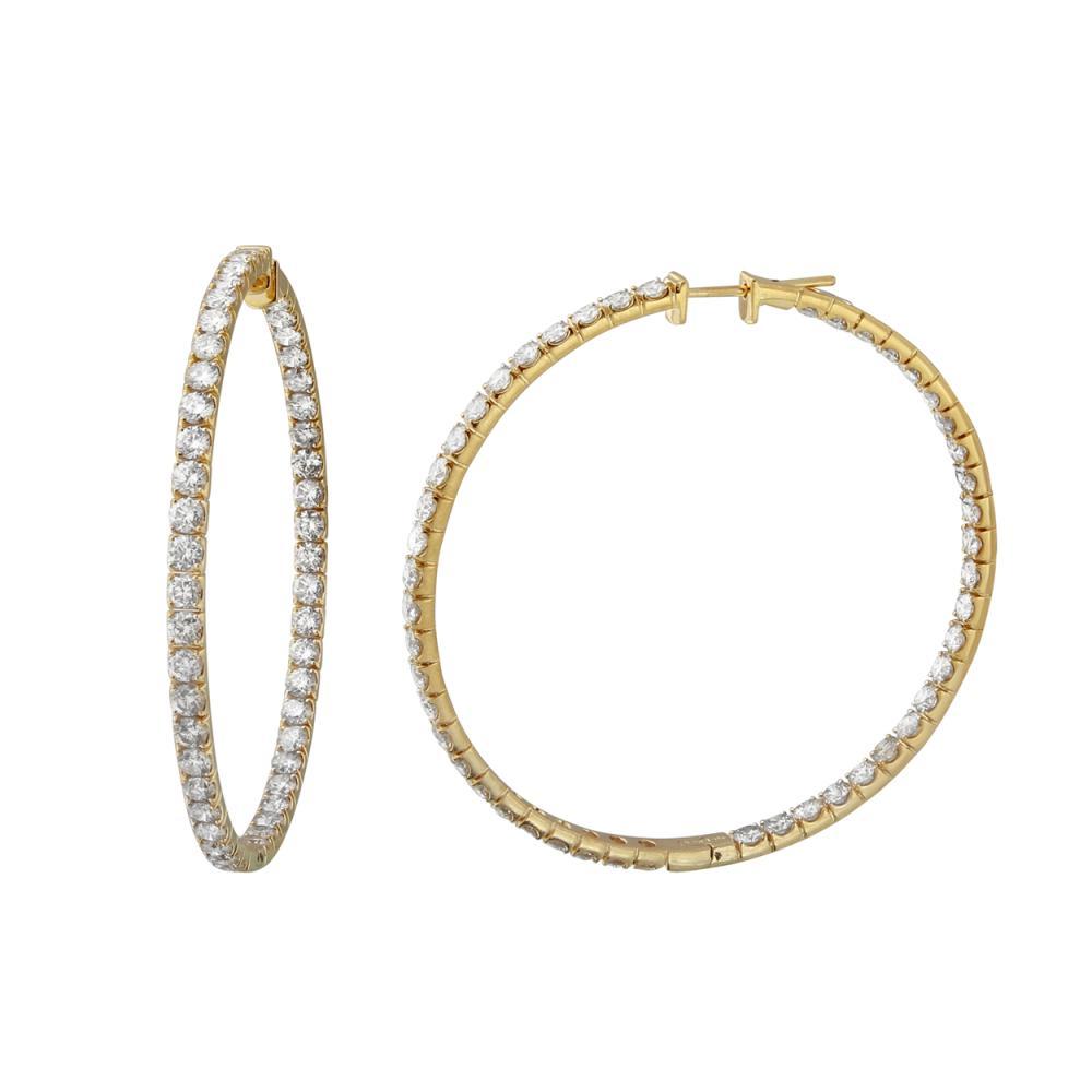 8.95 CTW Diamond Earrings 14K Yellow Gold - REF-753R7K