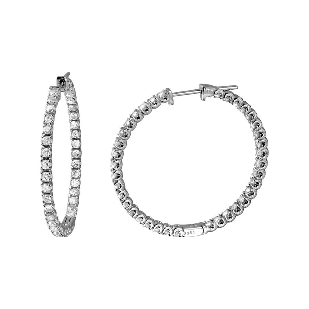 2.65 CTW Diamond Earrings 14K White Gold - REF-188K4W