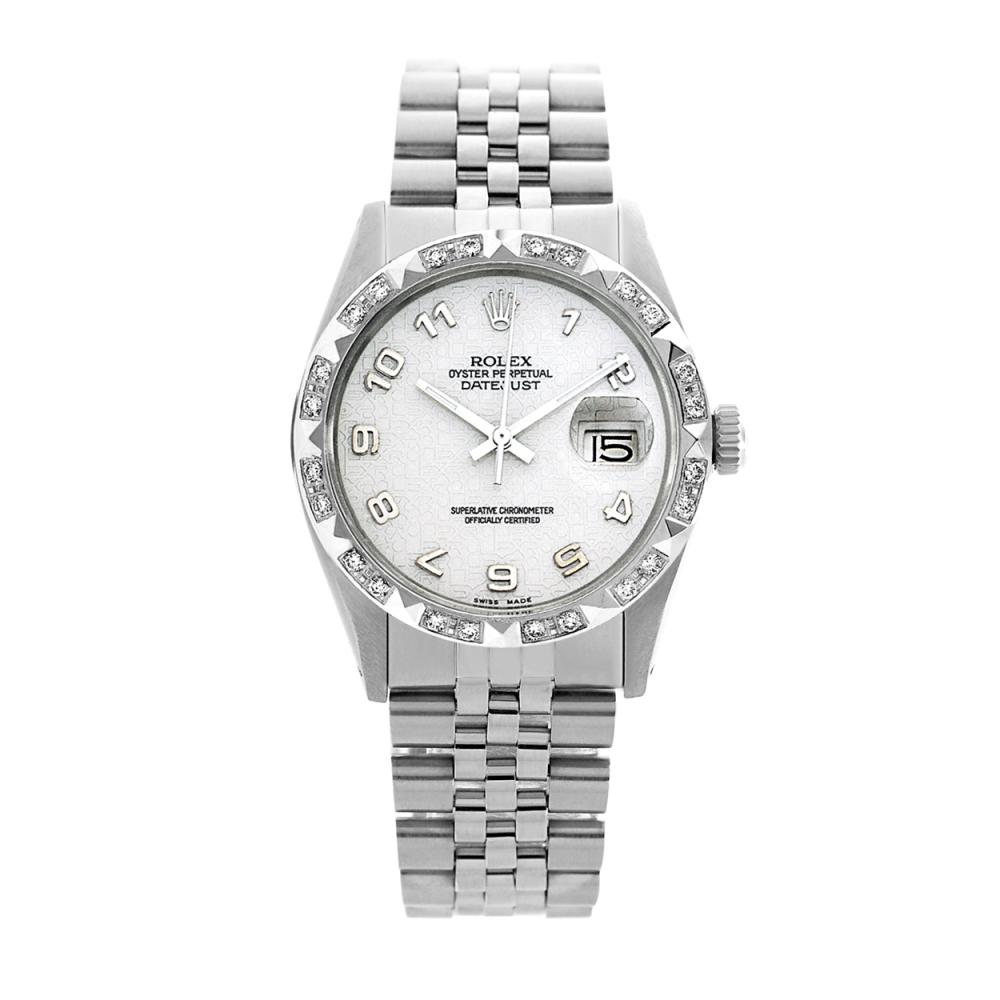 Rolex Pre-owned 36mm Mens Silver Jubilee Stainless Steel - REF-580M4R