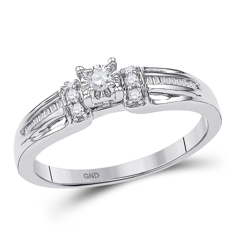 0.20 CTW Diamond Solitaire Bridal Ring 10KT White Gold - REF-22Y4X