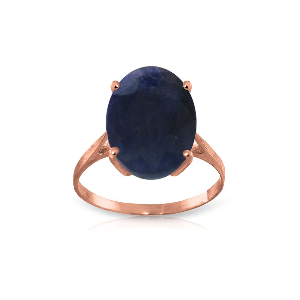 Genuine 8.5 ctw Sapphire Ring Jewelry 14KT Rose Gold - REF-85F2Z