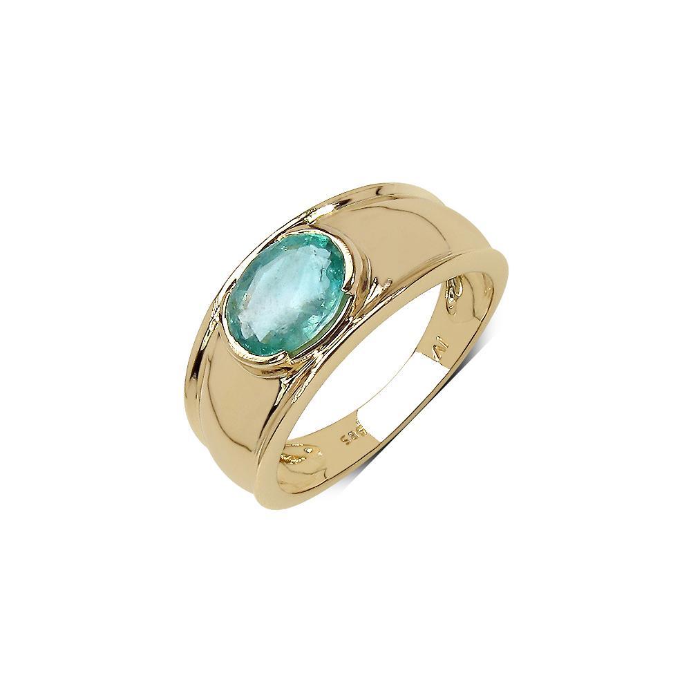 1.80 CTW Zambian Emerald Ring 14K Yellow Gold - REF-98W6F