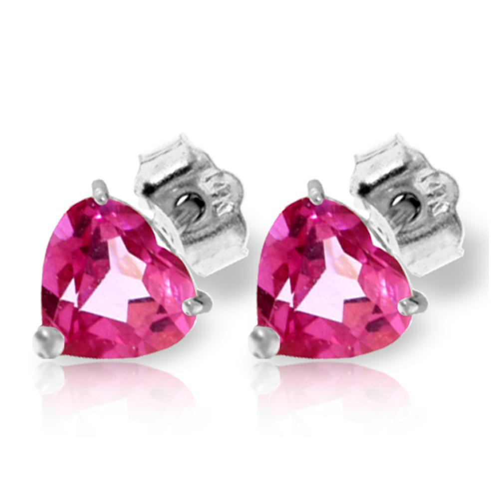 Genuine 3.25 ctw Pink Topaz Earrings Jewelry 14KT White Gold