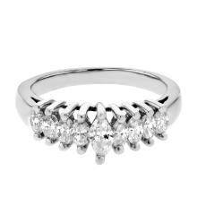 Genuine 0.79 CTW Diamond Fashion  Ring in  Platinum Gold - REF-106Z2Y