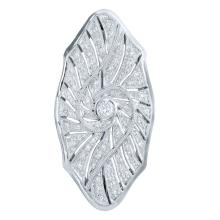 Genuine 0.52 CTW Diamond Brooch Brooch in 18K White Gold - REF-170A5N