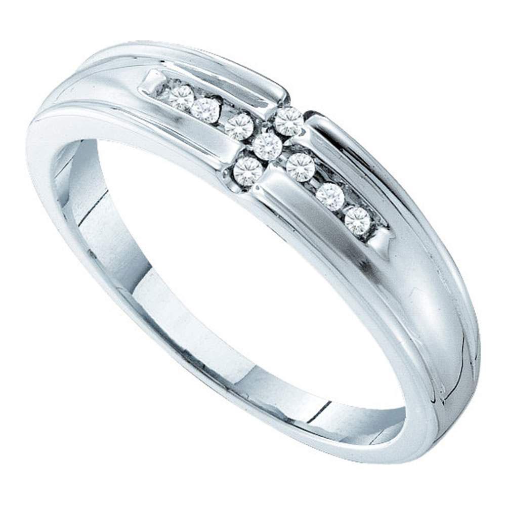 0.36 CTW Diamond Cluster Ring 14K White Gold - REF-80A2V