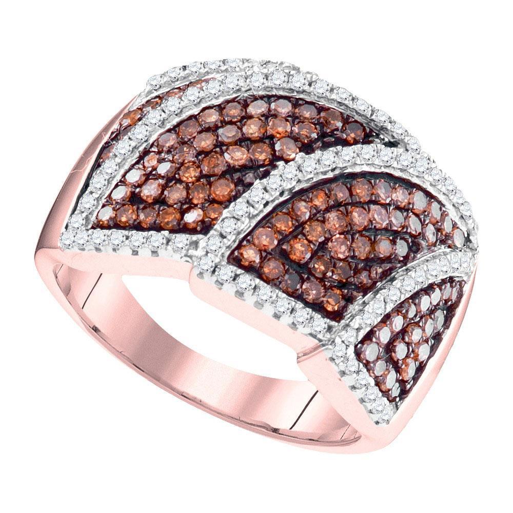 1 CTW Red Diamond Ring 10K Rose Gold - REF-52W9H