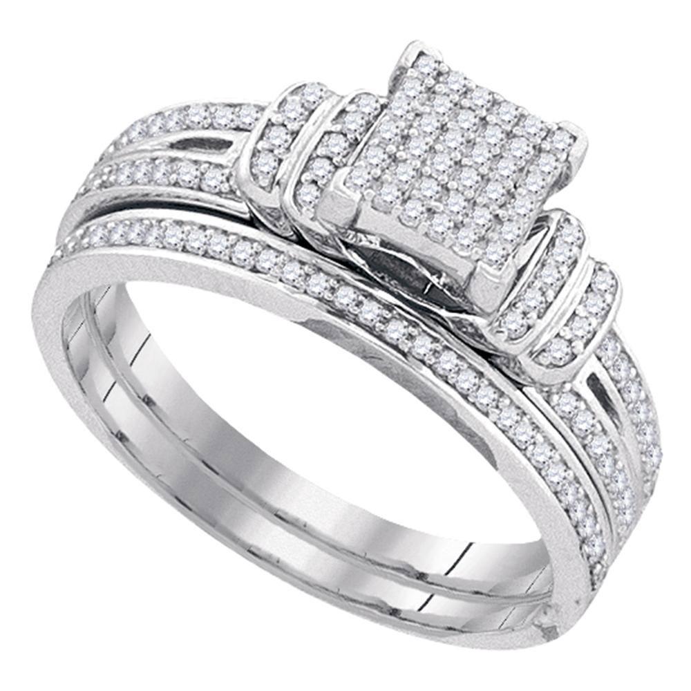 0.30 CTW Diamond Ring 10K White Gold - REF-36K8W