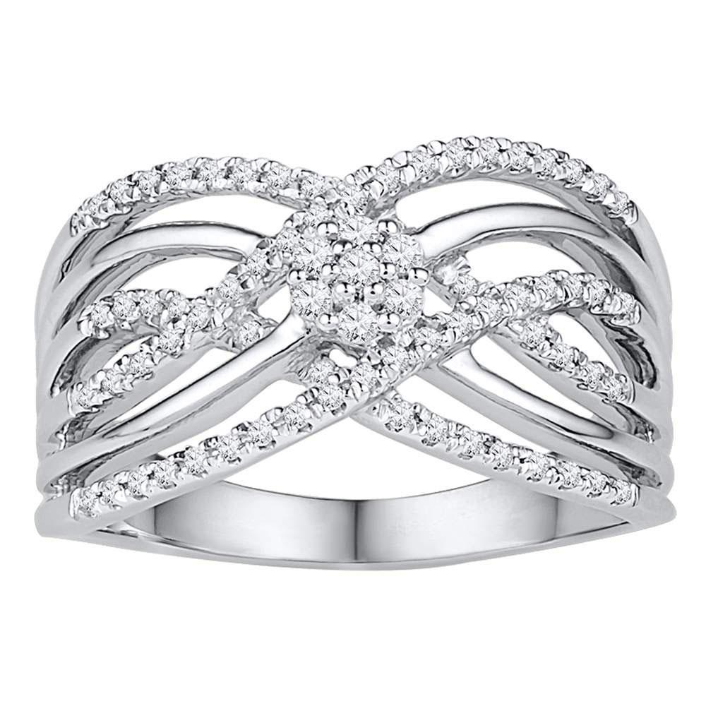 0.25 CTW Diamond Ring 10K White Gold - REF-38M5F