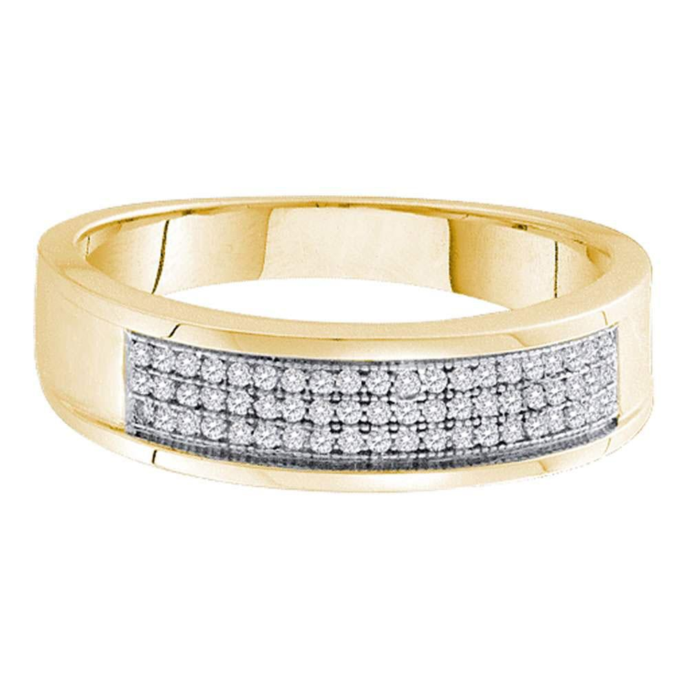 0.20 CTW Diamond Ring 10K Yellow Gold - REF-28M8F