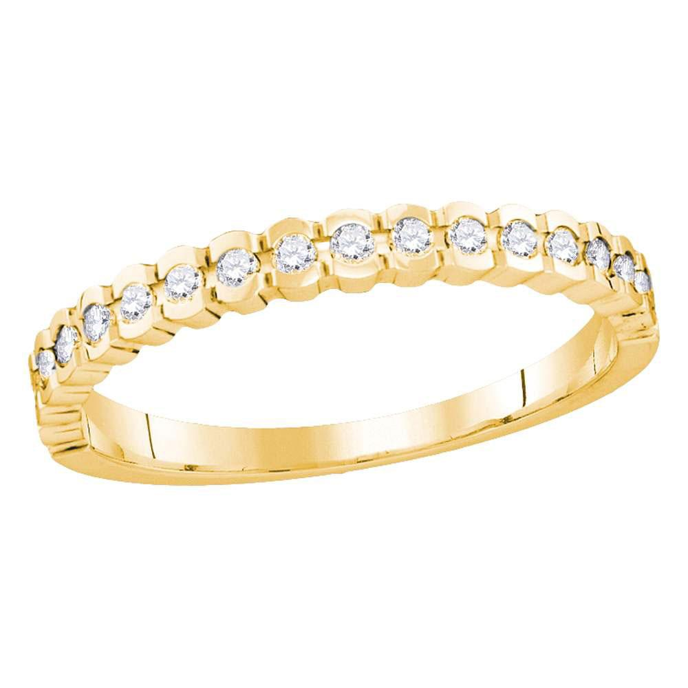 0.25 CTW Diamond Ring 14K Yellow Gold - REF-36R8K