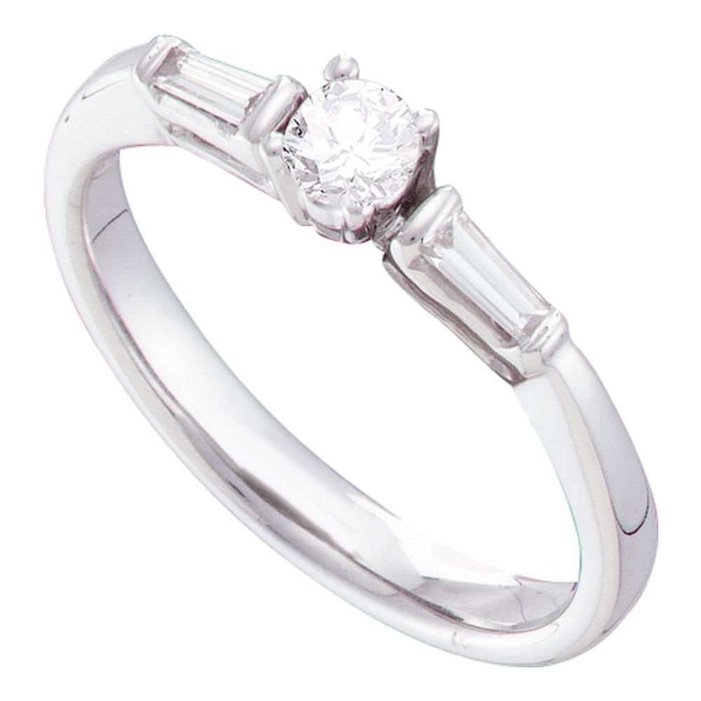 0.28 CTW Diamond Solitaire Ring 14K White Gold - REF-44Y9X