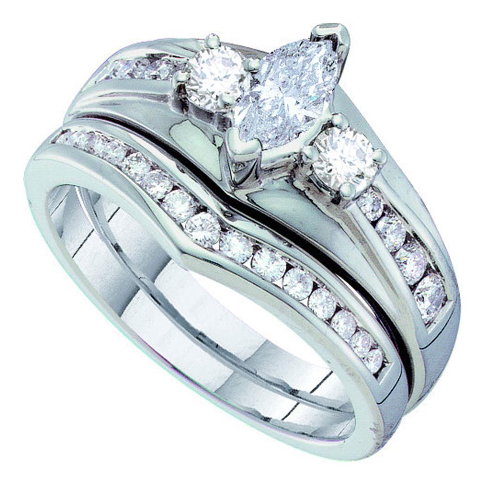 1 CTW Diamond Ring 14K White Gold - REF-128M2F