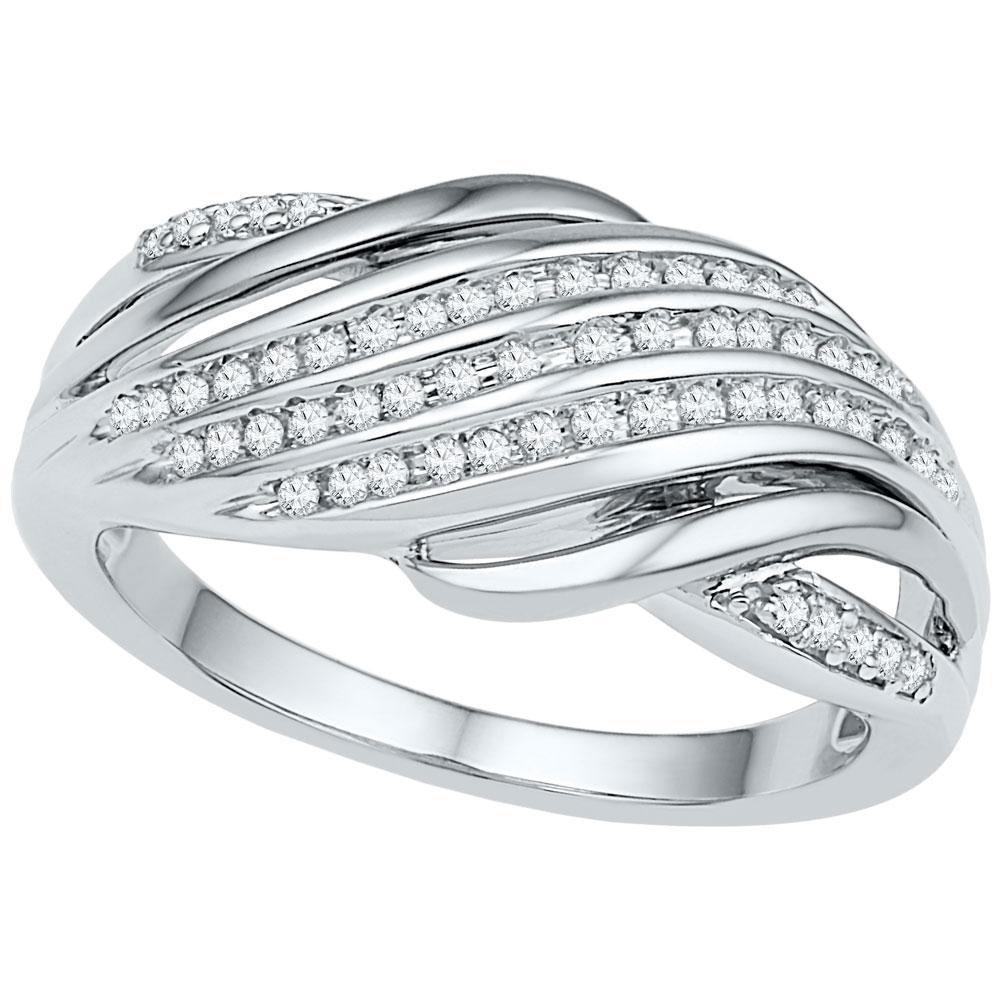 0.20 CTW Diamond Ring 10K 2-tone Gold - REF-33F5N