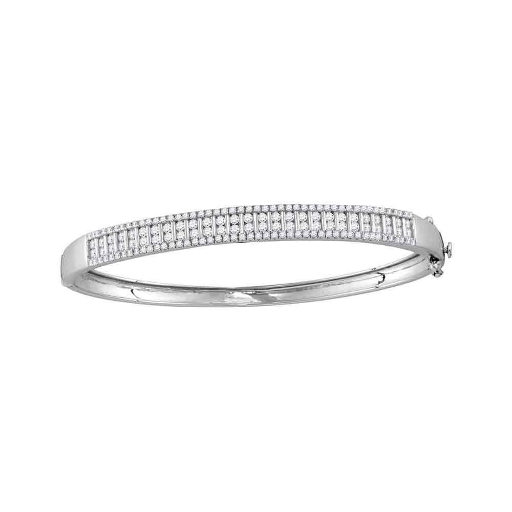 2 CTW Diamond Bangle 14K White Gold - REF-232K5W