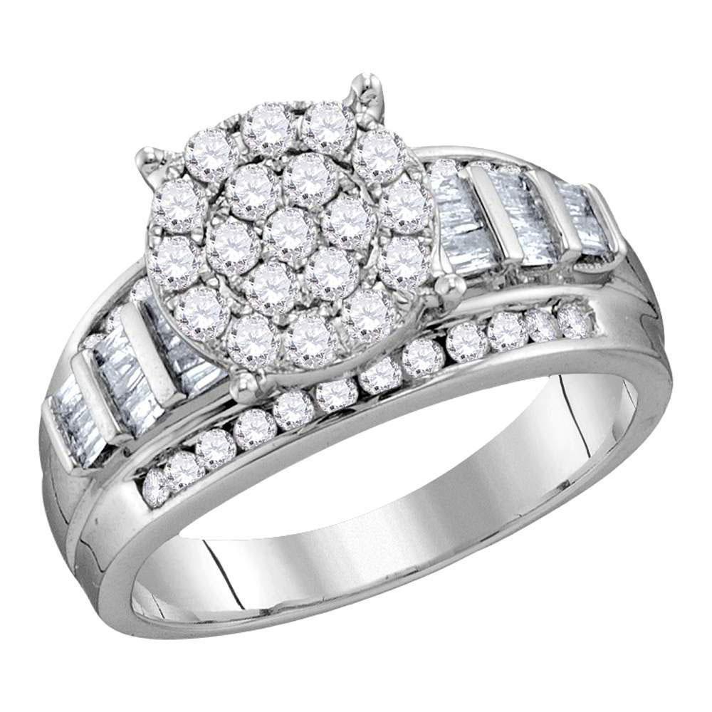 1.95 CTW Diamond Ring 10K White Gold - REF-145A9V