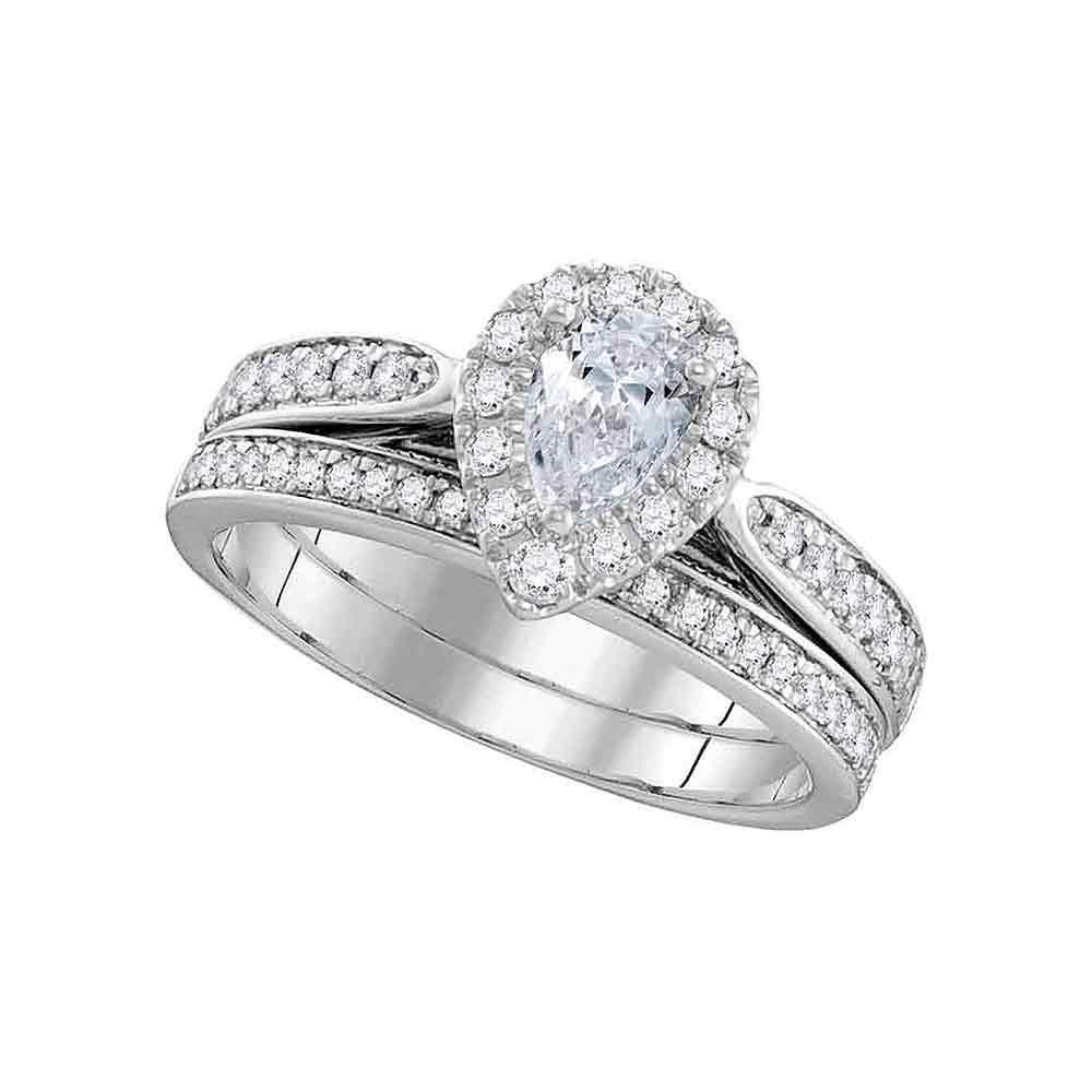 1 CTW Diamond Ring 14K White Gold - REF-224H5M