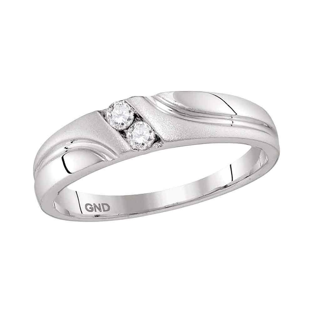 0.15 CTW Diamond Ring 10K White Gold - REF-28H8M