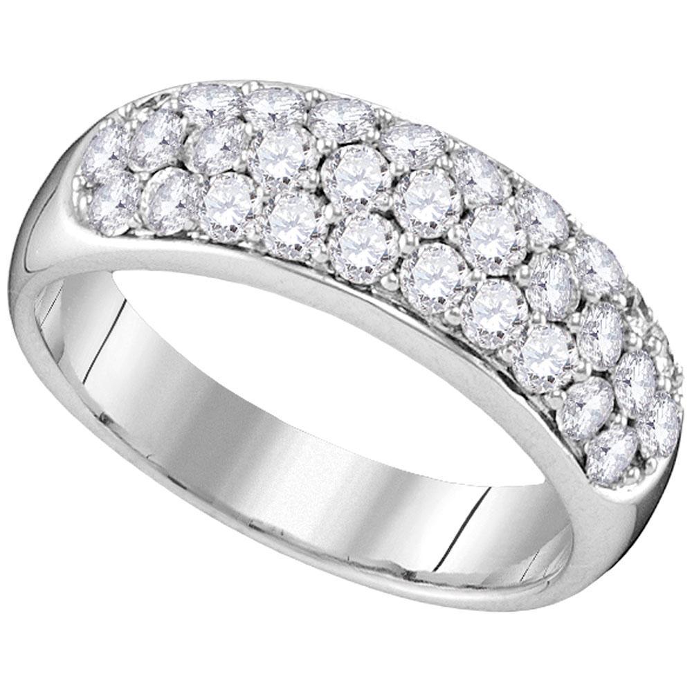 1.02 CTW Diamond Ring 14K White Gold - REF-152M4F