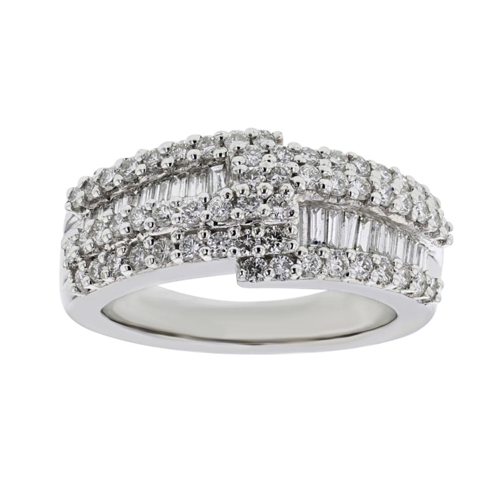 1.26 CTW Diamond Ring 14K White Gold - REF-137Y2X